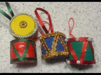 Como hacer Tamborcitos para decorar tu Arbol de Navidad