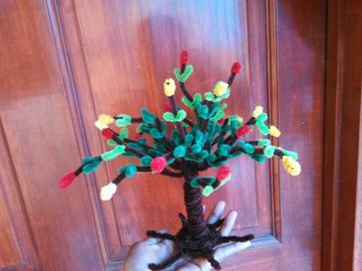 Como hacer un árbol con limpiapipas