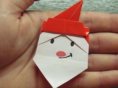 Como hacer un ROSTRO de SANTA CLAUS para Navidad | Figuras navideñas de papel SUPER FACILES!