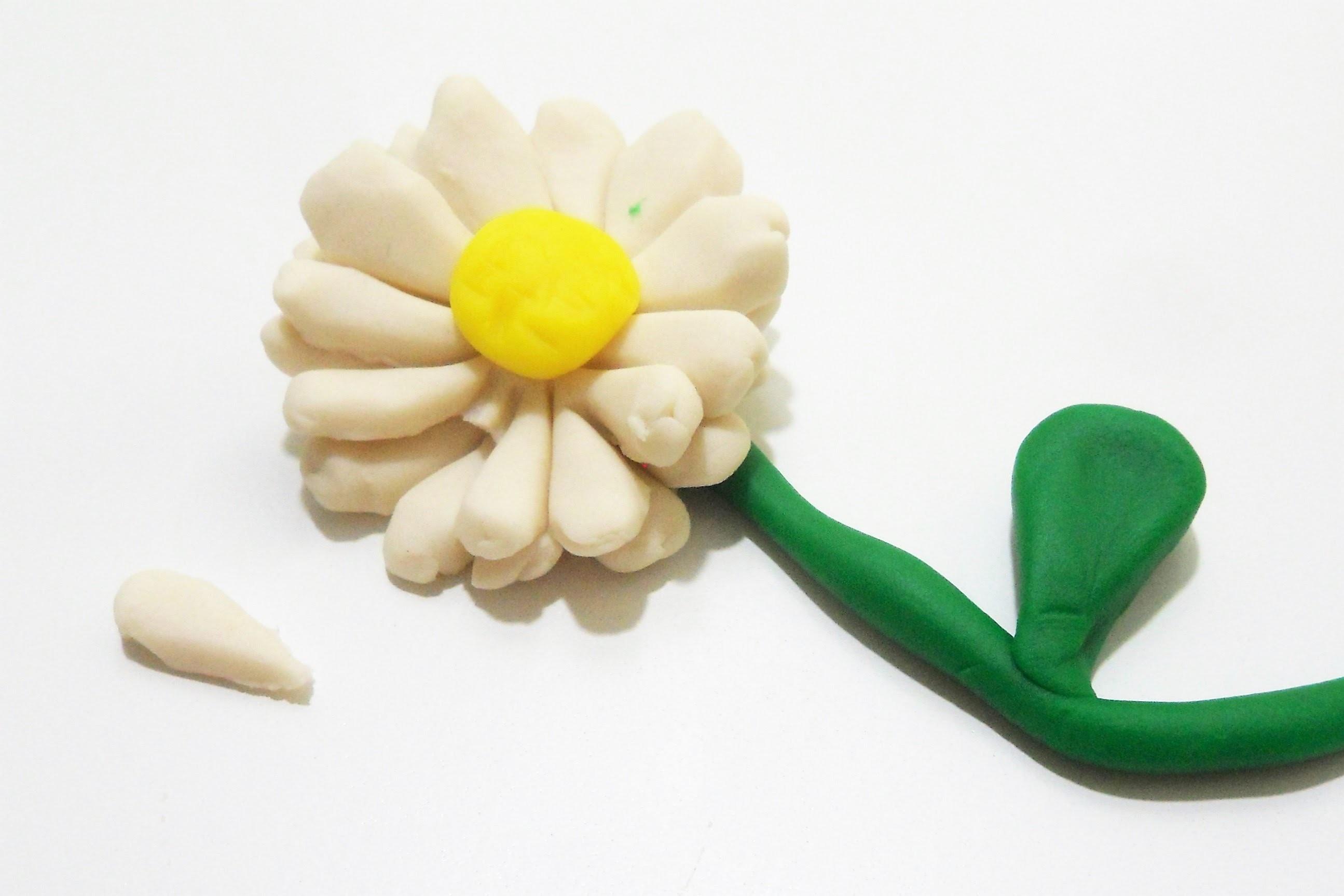 Como hacer una flor margarita con plastilina play doh