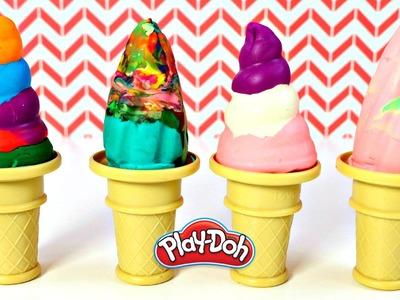 Helados de Colores Plastilina Play Doh | Rainbow Ice Cream Cones Mundo de Juguetes
