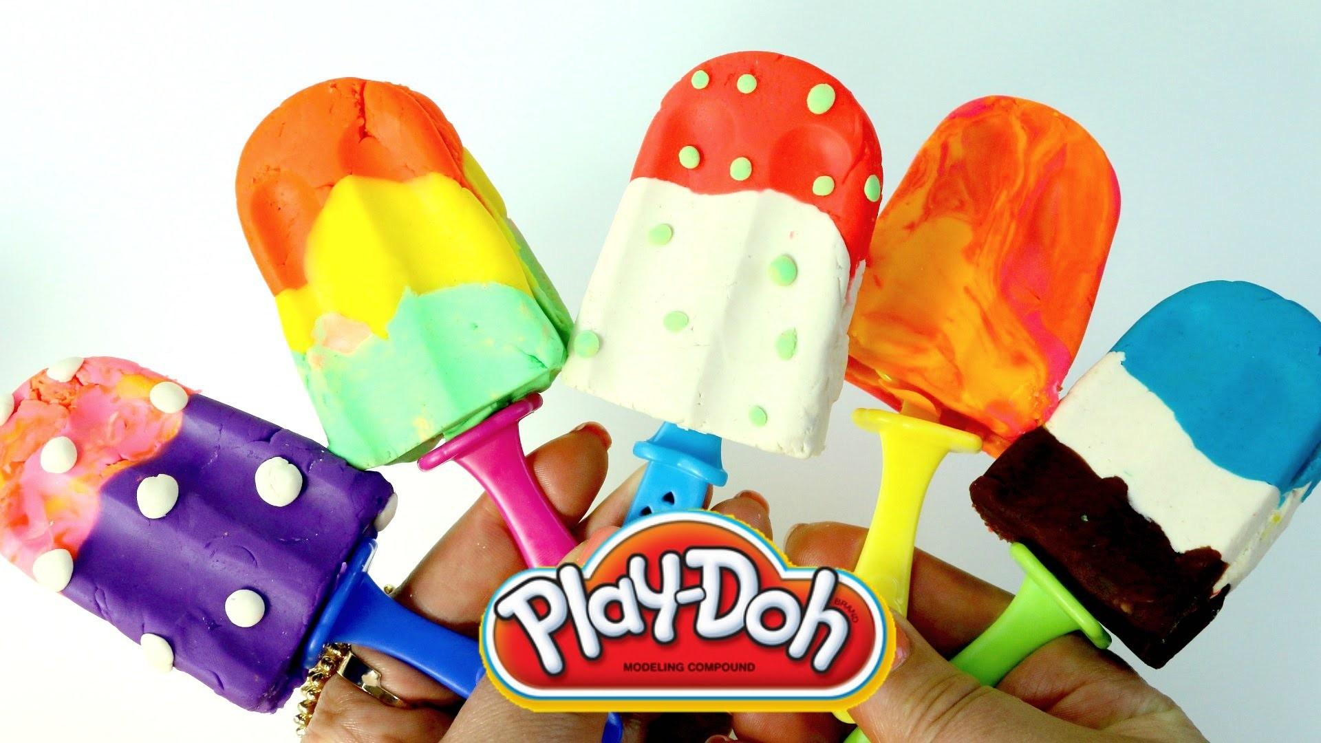 Paletas de Plastilina| Play Doh Colorful Popsicles Play Doh en Español