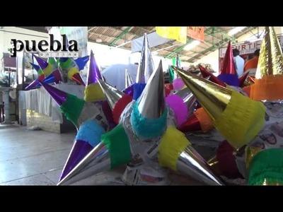 Piñatas Navideñas del mercado El Carmen Puebla