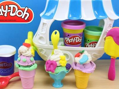Play Doh Carrito de helados | Helados y paletas de plastilina | Play Doh Ice Cream Sundae Cart