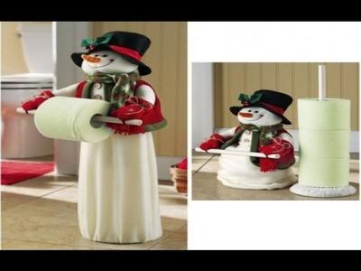 Porta rollo Muñeco de Nieve para Navidad - Decoracion con Muñeco de Nieve para el Papel Higienico