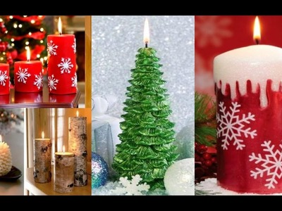 +80 Ideas de Velas Navideñas Decoradas - Decoracion Navideña con Velas