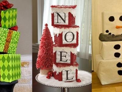 Adornos Navideños con Cajas de Cartón - Decoraciones navideñas Reciclando Cajas de Cartón