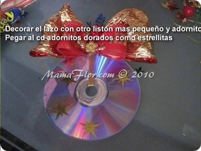 Colgante Navideño con CD Reciclado: PASO A PASO - Adornos de Navidad Manualidades