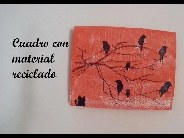 Cuadro con material reciclado   Decoración Hogar   Regalo original DIY   Manualidad Low Cost   Craft