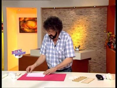 Jorge Rubicce - Bienvenidas TV - Modela en porcelana fría el volado del moisés
