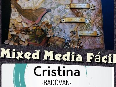 MIXED MEDIA. TUTORIAL EN ESPAÑOL. COMO UTILIZAR LAS DISTRESS STAIN. SCRAP TEAM'16 JULIO