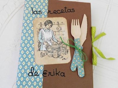 Recetario scrap papeles Handmade with love