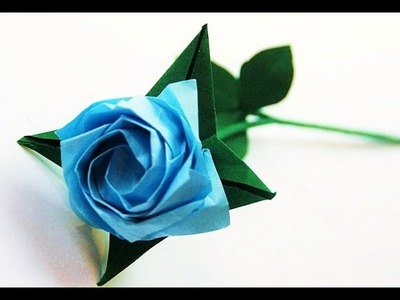 Rosa de Origami Facil, Como hacer Rosa de papel (papiroflexia)