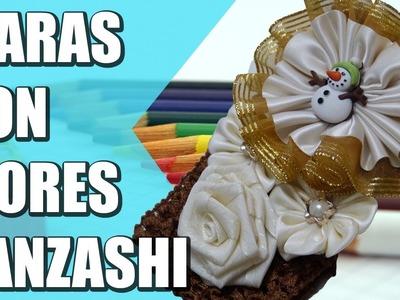 Tiaras con flores Kanzashi faciles, Moños, tiaras, banditas y diademas,video 557
