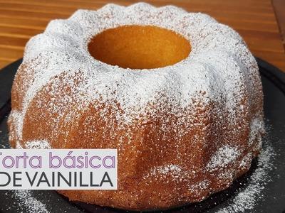 Torta de vainilla - base de repostería - casera - receta paso a paso