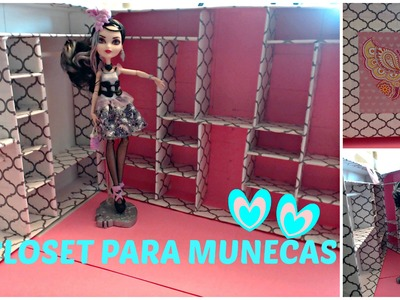 Como Hacer un Closet para Muñecas - Ever After High - Monsterr High - Barbie - BRATZ