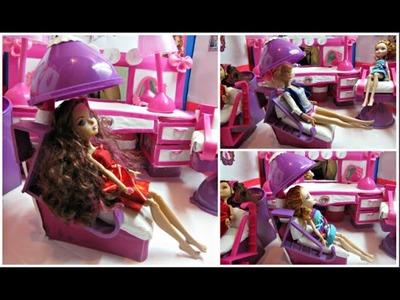 Como Hacer una Silla Secadora de Cabello  para Munecas- Ever After High - Barbie