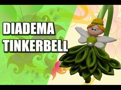 Diadema tinkerbell en cinta y porcelana , Diademas faciles paso a paso,Video  554