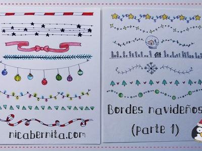 MÁRGENES para cuadernos y BORDES para cartas con dibujos navideños (1) * Nica Bernita