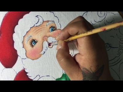 Pintura En Tela Santa Claus # 2 Con Cony