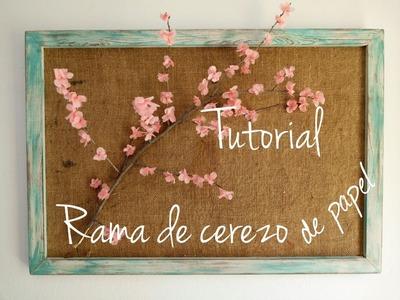 Rama de flores de cerezo papel seda