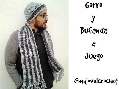 Gorro y bufanda para hombre a  juego #tutorial