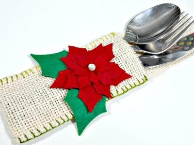 Ideas de Navidad #10 | Porta Cubiertos | Decoración de Navidad