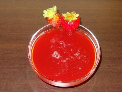 Receta de almíbar de fresa casero | Almíbar para tartas | Almíbar de azúcar