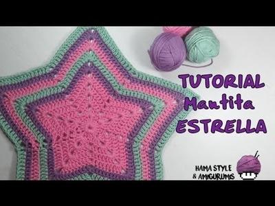 [TUTORIAL] Mantita estrella a crochet + patrón