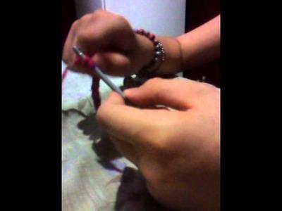 Como tejer una pulsera a crochet en punto cadena