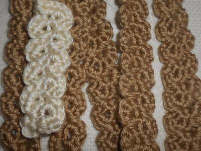 Cordón en crochet - punto fantasía - crochet fácil y rápido