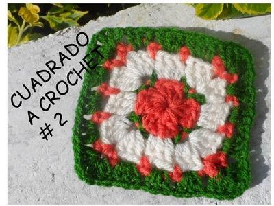 Cuadrado a Crochet #2 Detalle en puntos bajos. Paso a paso
