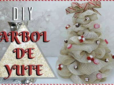 DIY ARBOL NAVIDEÑO DE YUTE. BURLAP CHRISTMAS TREE DIY