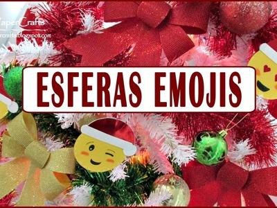 DIY Esferas Emojis Navideños | Decora tu árbol de Navidad | Tutorial Fácil | Luisa PaperCrafts