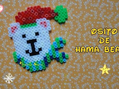 DIY oso de hama beads (perler bead bear)