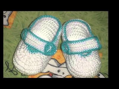 Faciles zapatitos tejidos a crochet