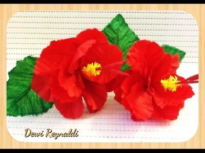 FLORES DE PAPEL - [DIY] Tutorial - Como hacer flores de papel Crepe. MANUALIDADES DE PAPEL