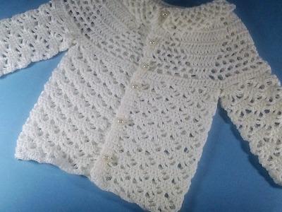 Jersey, chambrita o saco de bebe a crochet 2ª parte