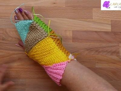 Mitones paso a paso Crochet 1 de 2