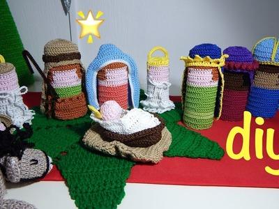 Nacimiento Tejido parte 1 Ganchillo, Crochet Nativity set DIY