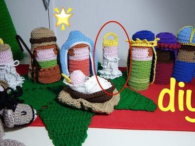 Nacimiento Tejido parte 2 Ganchillo, Crochet Nativity set DIY