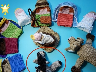 Nacimiento Tejido parte 8 Final Ganchillo, Crochet Nativity set DIY