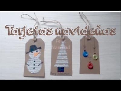 Tarjetas navideñas DIY. Christmas cards | Manualidades Navidad | Christmas | Adornos Navidad
