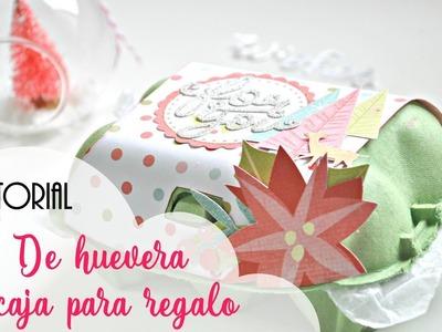 Tutorial DIY caja para regalo | Huevera alterada para navidad | Scrapeando con Rocío