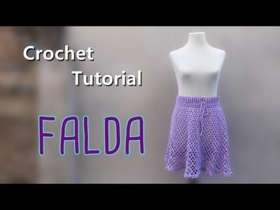 Tutorial falda crochet