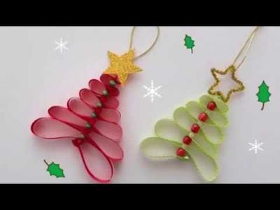 ADORNOS NAVIDEÑOS +25 Ideas DIY. Decoraciones  Navideñas.Adornos de Navidad Fáciles de Hacer