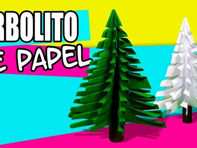 Árbol de Navidad con hojas de colores, MUY FÁCIL Y SENCILLO | Manualidades Ani Crafts