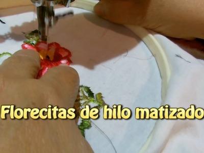 Florecitas de hilo matizado |Creaciones y manualidades angeles
