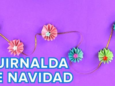 Guirnalda de origami | Manualidades de adornos para fiestas infantiles