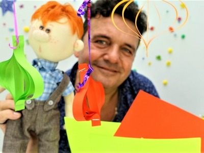 ¡Feliz Navidad! ¡Cómo hacer los Adornos! Bolas de papel. #Manualidades para niños. Videos para niños